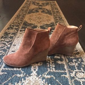 Lucky brand women's booties wedges